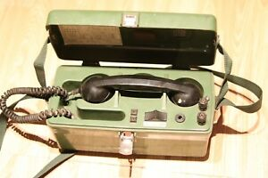 MILITARY FIELD TELEPHONE SET PYE TMC TYPE 1705/AS TWO WIRE Y1/5805-99-966-0006