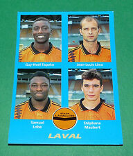 N°377 TAPOKO LIMA LOBE MAUBERT LAVAL D2 PANINI FOOT 96  FOOTBALL 1995-1996