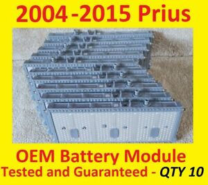 (10) 7.6v+ Toyota Prius Battery Cell Module 2004-2015 Gen3 2018 39K miles