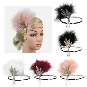 1920s Feather Headband Flapper Headpiece Fancy Headdress Fascinator