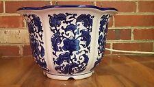 ATTRACTIVE New Porcelain PLANTER - VASE - Blue and White - Pot - Bowl - Cachepot