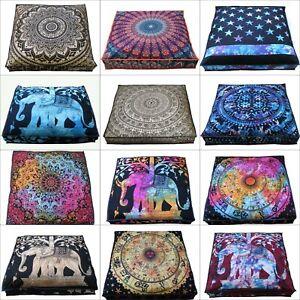 "20 Pcs"" Wholesale Indian Mandala Square Floor Decor Large Pillows Cushion Cover"