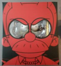 "Kidrobot The Simpsons Devil Flanders 7"" GID Glow in Dark Limited 1/500 New"