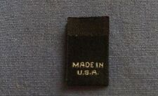 100Pcs Black Woven Clothing Garment Label Size Tab Tag Care Custom MADE IN USA