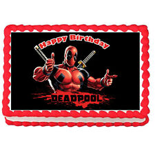 """Dead Pool Edible Cake topper image decoration-7.5""""x10"""""""