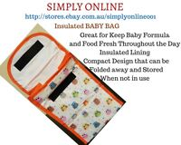 1 Piece Insulated Baby Bag - Bubba Bags - keep food and Milk Fresh - Kids