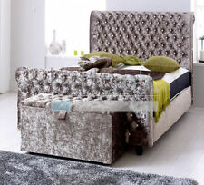 Fabric Contemporary Beds with Mattresses