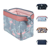 Portable Flamingo Flower Print Makeup Brushes Holder Bag Pouch Cases Dazzling