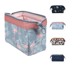 Portable Flamingo Flower Print Makeup Brushes Holder Bag Pouch Cases Dazzling 04