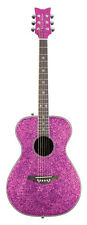 Daisy Rock Guitars - Pixie Acoustic Pink Sparkle- Free Tuner - Strings & Capo