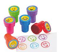 Pack of 6 - Plastic Emoji Self Ink Stampers - Smiley Teacher School Supplies
