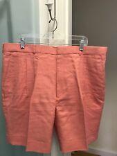 Smith's of Bermuda Irish Linen Coral Pleated Shorts