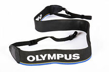 "Olympus 1.5"" Wide Strap, Black Fiber Blue/Yellow Stripe, Stitched White **EX**"
