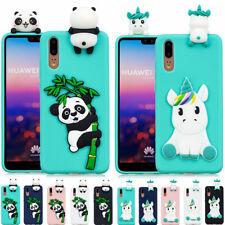Adorable 3D dibujos de animales TPU Silicona Teléfono Estuche Cubierta para iPhone HUAWEI XIAOMI
