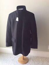 Calvin Kelin Black Premium Wood Rich Coat Men's Black XL Slim Fit Zipper Snap