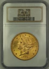 1904 $20 Liberty Double Eagle Gold Coin NGC MS-63