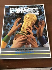 More details for the 1986 fifa world cup official programme uk edition, rare.  freepost