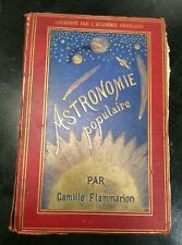 Antique Astronomy Book 1881 Camille Flammarion French Text Astronomie Populaire