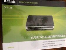 New D-Link DES-1105 Internet 5 Port 10/100 Switch HUB Ethernet Network