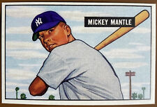 1951  BOWMAN  MICKEY  MANTLE  ROOKIE  # 253  REPRINT
