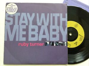 """Ruby Turner: Stay With Me Baby / On The Defence: Insert Card 7"""" Vinyl Single.,"""