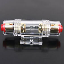 Car Audio In-line 4 or 8 Gauge AGU Fuse Holder Box Plug AWG Wire Glass Sales