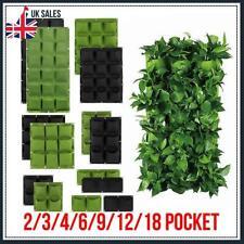 2-18 Bolsillos Colgante De Pared Bolsa de crecimiento de la planta vertical de bolsas de plantación jardín UK