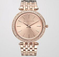 Michael Kors MK3192 Darci Rose Gold Tone Dial Pave Bezel Ladies Wrist Watch