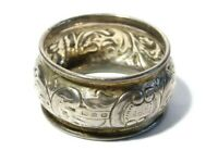 1911 Sterling Silver Napkin Ring with SPK Initials A/F