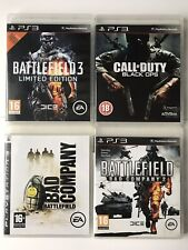 Battlefield 3+Bad Company+Bad Company 2 + COD Black Ops (PS3 Game Bundle)-(1018)