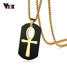 Vnox Ankh Collar De Acero Inoxidable De Joyería Egipcia Corss Colgante Para hombres clave para
