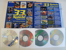 Mega-pack 33 dos versiones completas en PC CD-ROM hockey Manager Turrican, etc. Box