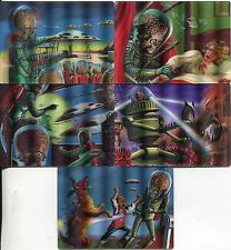 Mars Attacks Heritage Complete Magic Of 3-Dimension Chase Card Set 1-5