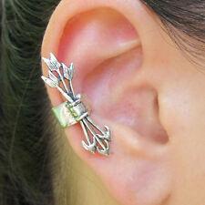 1 Piece Men Women Gothic Punk Arrow Cross Party Earring Ear Clip No peircing