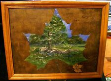 Oil Painting on Leaf Beautiful Wood Frame  Favorite Artist Jesse Parks Signed