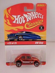 Hot Wheels Classics Series 1 Orange VW BUG in BP #25 of 25