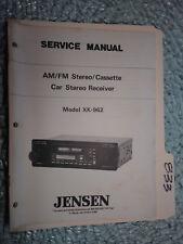 Jensen Xk-962 service manual original repair book car stereo radio tape player
