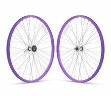 """Purple 26"""" x 1.75 Alloy Bicycle WheelSet Front /Rear Cruiser Lowrider Bikes"""