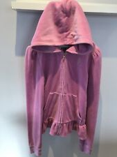 Juicy Couture pink velour Hooded zip up Top Size XL approx 11-13 years hoodie