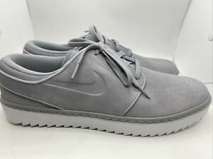 Nike Janoski G Golf Shoes Spikeless AT4967-002 Gray Suede Sz 12