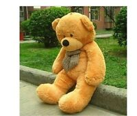 47'' Giant Brown Teddy Bear Plush Toy Only Cover Shell (With Zipper) Xmas Gift