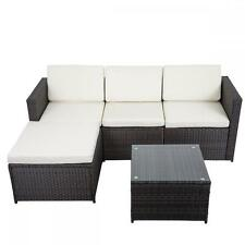 5 PCS Outdoor Patio Sofa Set Sectional Furniture PE Wicker Rattan Deck Couch  F8  Outdoor Patio Couch