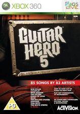Xbox 360-Guitar Hero 5 ** Nuovo e Sigillato ** UFFICIALE STOCK Regno Unito