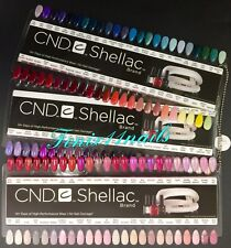 CND SHELLAC Salon NAIL TIP COLOR CHART PALETTE 3pc Set + Chain 136 Colors Ltd Ed