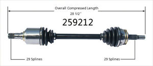 CV Axle Shaft Front Left WorldParts 259212 fits 04-06 Nissan Quest