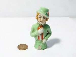 """Antique Unusual Half Doll a/f but worthy of being in a collection ! 3"""" Tall"""