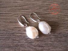 Orecchini Perle di Fiume Perla di Fiume Naturale Nichel Free Moda Mare Donna