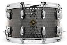 Gretsch Full Range Hammered Black Steel Snare Drum 14x8 - S1-0814-BSH