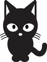 ADESIVO STICKERS PRESPAZIATO GATTO con OCCHIONI VETRO AUTO MOTO CAT FUNNY