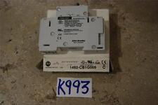 ALLEN BRADLEY MANUAL MOTOR CONTROLLER 1492-CB1G005 SER C STOCK#K993